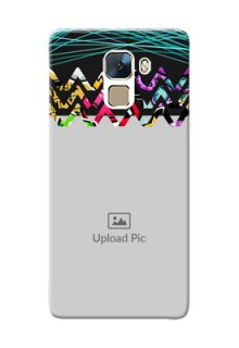 Huawei Honor 7 neon background with abstract Design