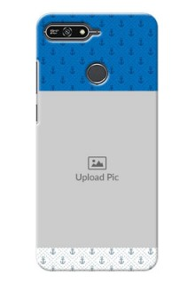 Huawei Honor 7A Blue Anchors Mobile Case Design
