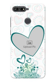 Huawei Honor 7A Couples Picture Upload Mobile Case Design