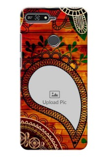 Huawei Honor 7A Colourful Abstract Mobile Cover Design