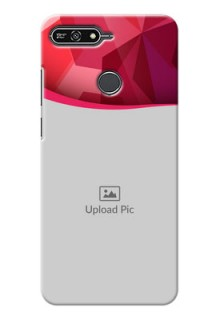 Huawei Honor 7A Red Abstract Mobile Case Design