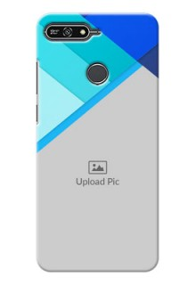 Huawei Honor 7A Blue Abstract Mobile Cover Design