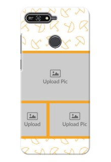 Huawei Honor 7A Yellow Pattern Mobile Back Cover Design