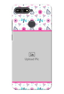 Huawei Honor 7A Colourful Flowers Mobile Cover Design