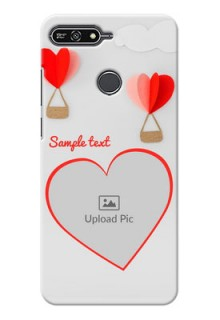 Huawei Honor 7A Love Abstract Mobile Case Design