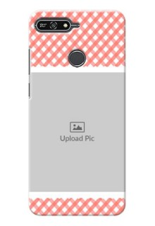 Huawei Honor 7A Pink Pattern Mobile Case Design
