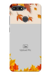 Huawei Honor 7A autumn maple leaves backdrop Design
