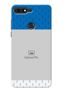 Huawei Honor 7C Blue Anchors Mobile Case Design