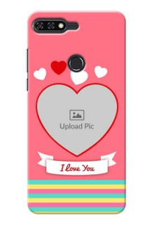 Huawei Honor 7C I Love You Mobile Cover Design
