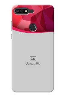 Huawei Honor 7C Red Abstract Mobile Case Design