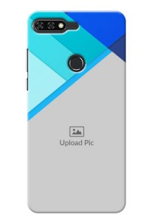 Huawei Honor 7C Blue Abstract Mobile Cover Design
