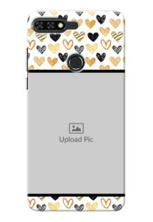 Huawei Honor 7C Colourful Love Symbols Mobile Cover Design