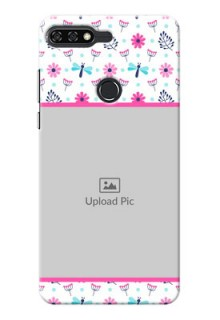 Huawei Honor 7C Colourful Flowers Mobile Cover Design