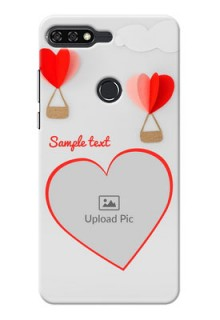 Huawei Honor 7C Love Abstract Mobile Case Design