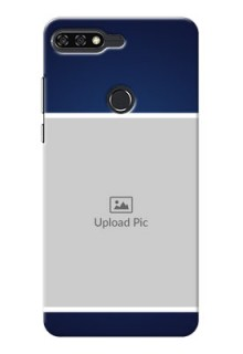 Huawei Honor 7C Simple Blue Colour Mobile Cover Design