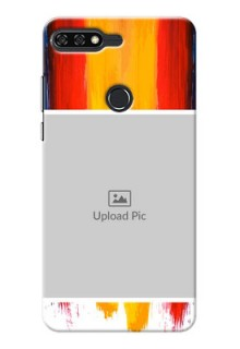 Huawei Honor 7C Colourful Mobile Cover Design