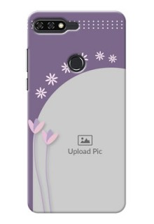 Huawei Honor 7C lavender background with flower sprinkles Design