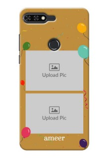 Huawei Honor 7C 2 image holder with birthday celebrations Design