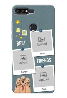 Huawei Honor 7C 3 image holder with sticky frames and friendship day wishes Design