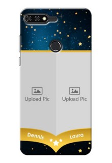 Huawei Honor 7C 2 image holder with galaxy backdrop and stars  Design