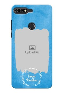 Huawei Honor 7C watercolour design with vintage floral Design