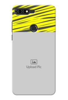Huawei Honor 7C yellow abstract stripes Design