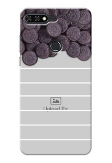Huawei Honor 7C oreo biscuit pattern with white stripes Design