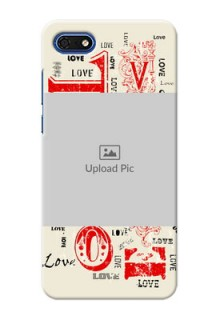 Huawei Honor 7s mobile cases online: Trendy Love Design Case
