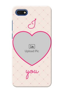 Huawei Honor 7s Personalized Mobile Covers: Heart Shape Design
