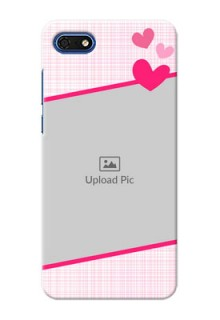 Huawei Honor 7s Personalised Phone Cases: Love Shape Heart Design