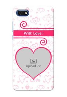 Huawei Honor 7s Personalized Phone Cases: Heart Shape Love Design