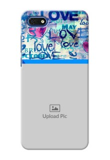 Huawei Honor 7s Mobile Covers Online: Colorful Love Design