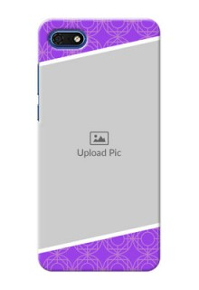 Huawei Honor 7s mobile back covers online: violet Pattern Design