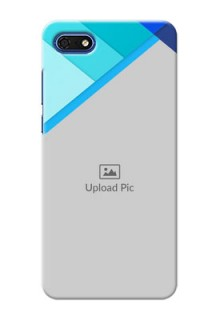 Huawei Honor 7s Phone Cases Online: Blue Abstract Cover Design
