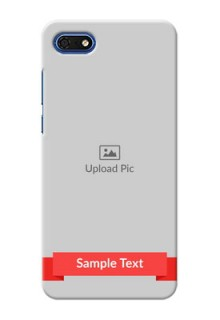 Huawei Honor 7s Personalised mobile covers: Simple Red Color Design