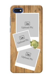 Huawei Honor 7s Custom Mobile Phone Covers: Wooden Texture Design