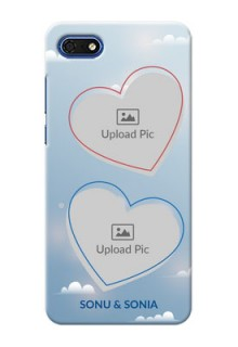 Huawei Honor 7s Phone Cases: Blue Color Couple Design