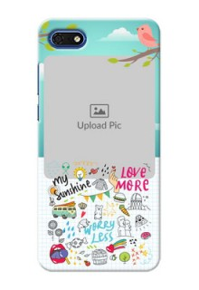 Huawei Honor 7s phone cases online: Doodle love Design