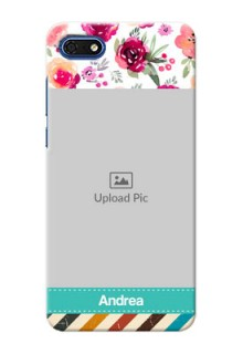 Huawei Honor 7s Personalized Mobile Cases: Watercolor Floral Design