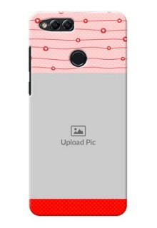Huawei Honor 7x Red Pattern Mobile Case Design