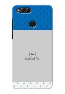 Huawei Honor 7x Blue Anchors Mobile Case Design