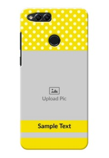 Huawei Honor 7x Bright Yellow Mobile Case Design