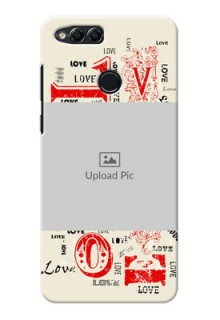 Huawei Honor 7x Lovers Picture Upload Mobile Case Design