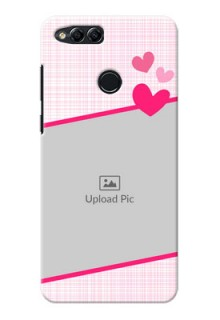 Huawei Honor 7x Pink Design With Pattern Mobile Cover Design