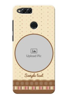 Huawei Honor 7x Brown Abstract Mobile Case Design