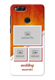 Huawei Honor 7x Wedding Memories Mobile Cover Design