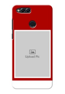 Huawei Honor 7x Simple Red Colour Mobile Cover  Design