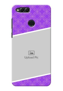 Huawei Honor 7x Violet Pattern Mobile Case Design