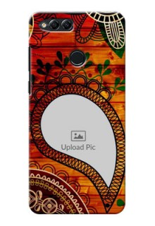 Huawei Honor 7x Colourful Abstract Mobile Cover Design