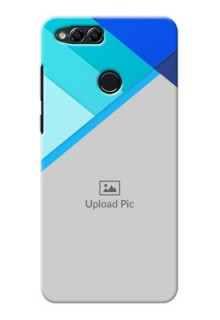 Huawei Honor 7x Blue Abstract Mobile Cover Design